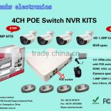 hot top selling wifi security camera system 4chs 720P waterproof ip camera NVR KITS, Home alarm system wireless system
