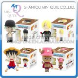 Mini Qute Bonnie kawaii 4 styles Anime One piece Luffy Zoro Chopper cartoon model building block plasticine clay educational toy