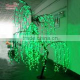 the Christmas festival decoration artificial Led willow tree for lakeside weeping willow tree lighting