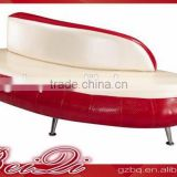 Beiqi 2016 Popular New Design Red Cafe Restaurant Lounge Sofa U Shape Waiting Chair in Guangzhou