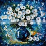 Cheap Simple Beautiful Design Modern Art Work Daisies Flower Oil Painting on Canvas