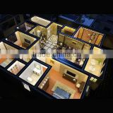 Customized 3D interior family model scale model making home layout model making 3d building model miniature