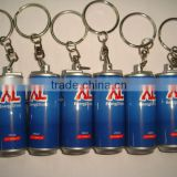 Can Shape Projection Keychain Flashlight Led Torch,promotional gifts led bottle keychain with logo