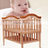 Multifunctional wood baby crib