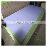 Trade Assurance waterproof white sublimation face MDF melamine board for kitchen cabinet