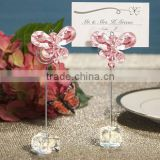 european style crystal pink butterfly photo& Card holder Charming wedding decoration baby shower party supplies