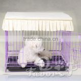 Factory wholesale cotton fabric enveloped dog cage cat child dog tent cover dust cover can be customized