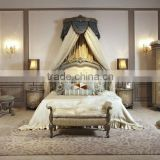 Luxury Antique Amercian Style King Size Bed Room Furniture Solid Wood Hand Carved Bed Design Furniture Sets With FoShan                                                                         Quality Choice