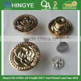 Ligh Gold High Gloss Zinc Alloy Removeable Jeans Tack Button -- JB1412009