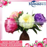 Tianjin artificial flower factory cheap price short stem peony artificial silk peony flowers wholesale                                                                         Quality Choice