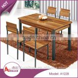 Commercial furniture no folded melamine board dinner table general use restaurant dining table set with chairs