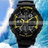 Hot Sale Electronic Outdoor Sports Water Resistant Chronograph Digital Quartz Watch Mens LED Watches