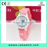 Adorable child's timepieces, custom girl's watch, puppy and bunny dial leather kids watch