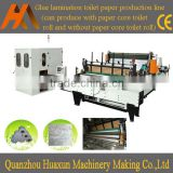 Auto perforated household tissue roll embossed rewinding toilet paper making machine