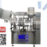 Micmachinery CE standard speed 30-60 bpm cosmetic tube sealer toothpaste tube filling machine cosmetic cream filling machine