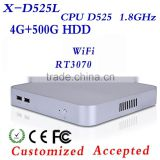 Big promotion Intel D525 4g ram multi user network computing terminal notebook computer with wifi mini pc thin client