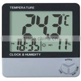 8001A digital indoor thermometer & hygrometer and clock function with CE certification