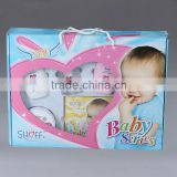 6 Pieces Baby Care Series include shampoo, lotion, oil, powder, cotton bud