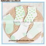 BS20 cotton jacquard knitted tube socks baby