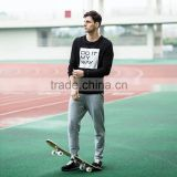 hot sale casual cotton hoodie crewneck sweatshirt running wear one set made in china