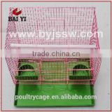 Steel Round Bird Cage And Bird Cage Decoration With Plastic Trays (2016 hot sale , made in china)