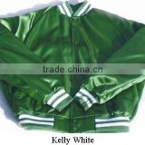 Hillstone international College Texas Orange | White Satin Letterman Custom Baseball Varsity Jackets VJ-090