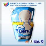 Liquid Detergent Powder Pouch / Stand Up Liquid Laundry Detergent Packing Bag With Spout / Laundry Detergent bag