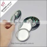 Stainless steel mirror / round metal cosmetic mirror