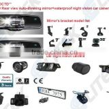 Car parking sensor system with Buzzer/LED Display/Rearview mirror/reverse camera for LCD OSD
