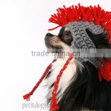 Mohawk crochet touque with ear flaps hat for dogs                                                                         Quality Choice