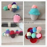 crochet Baby rattle ice cream, ice cream crochet teether toy