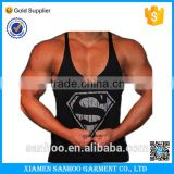 Cotton Spandex Custom Printed Gym Mens Tank Top Wholesale Singlets Blank Gym Stringer Vest With Custom Logo