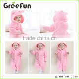 Infants birthday party costume baby romper bear tigers horse rabbit rompers animal with hood & ears cute baby jumpsuits