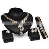 Luxury Clear Crystal Rhinestone Droplet Bride Wedding jewelry Sets Monkey Jewelries For Women