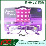Cheap promotional plastic eyeglasses with display, unisex reading glasses, good design reading glasses