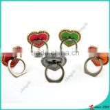 Love Heart Shape Smartphone Ring Holder, Cellphone Finger Ring Holder For Promotion Gift on Valentine's Day