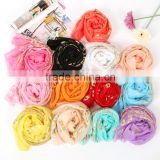Wholesale 2015 Korean beauty yarn scarves shawls hot peacock pattern candy colored scarf