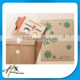 Christmas Gift Paper Envelope with Tie String Kraft Paper Envelopes