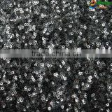 whosale new fancy african velvet lace with black and laser white sequin embroidery for party dress