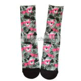 GS custom various cool cat and dog design black toe and heel cotton full terry heat transfer printing sublimatiom printed socks