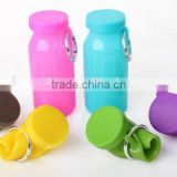 Outdoor travel bottle silicone folding bottle hot resistant portable telescopic cup Collapsible Silicone Travel Cup