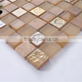 MB SMP33 Living Room Wall Decorative Glass Stone Mosaic Tile Building Material Mixed Mosaic
