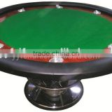 Deluxe standard round poker table, poker table for casino using
