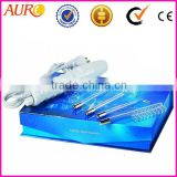 L: (Au-006A) Portable High Frequency facial massage violet ray wand machine with 4 tubes