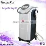 Facial Veins Treatment Scar Tattoo Removal Tattoo Removal Laser Machine Elight Rf Yag Laser Machine 0.5HZ