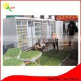 Trade Assurance Automatic hydroponic fodder machine / wheat fodder sprout container with green trays