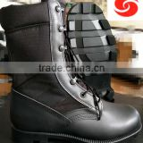 high ankle black jungle leather army boots