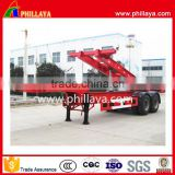 CIMC type FUWA 2 axle container skeleton shipping container gooseneck truck trailer for sale