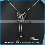 Bulk Price Fashion Design Rhinestone Snap Button Jewelry Necklace Interchangeable Custom Snap Necklaces