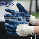 NMSAFETY blue nitrile b grade heavy duty oil field work glove